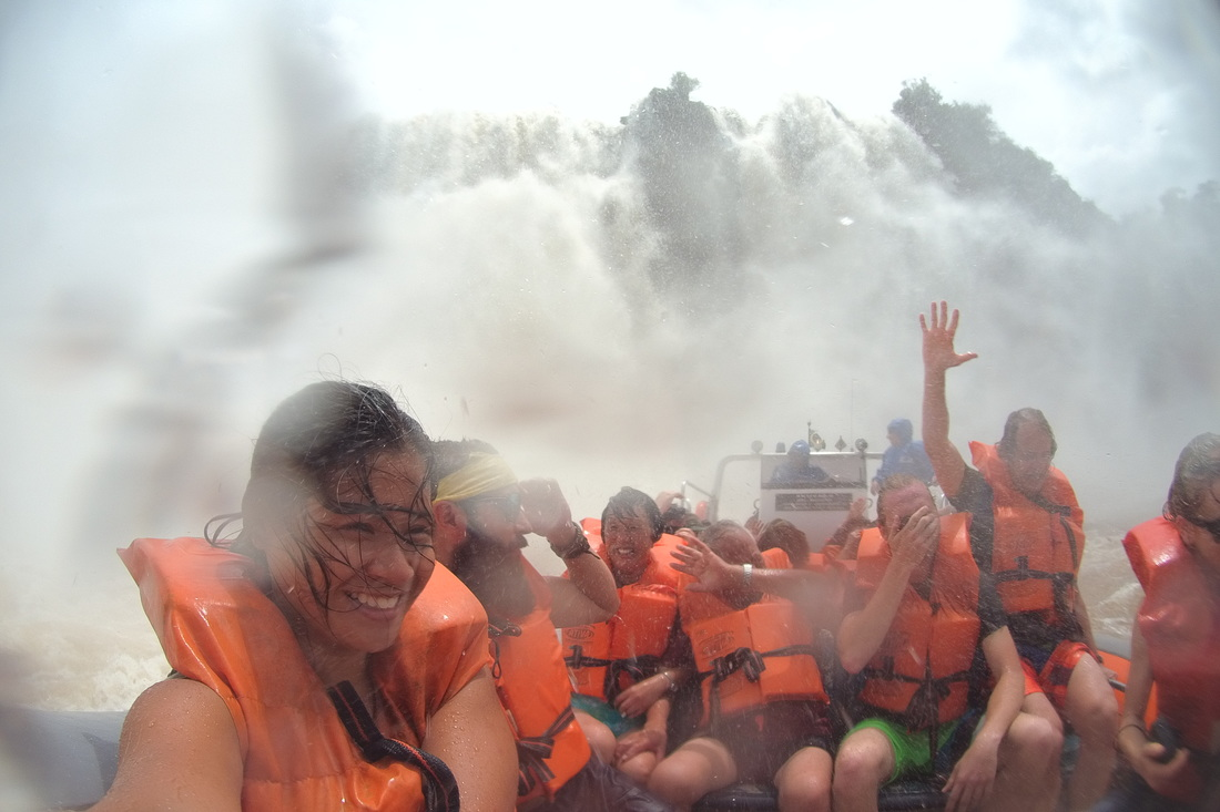 Iguazu Falls - Shower party at the falls!