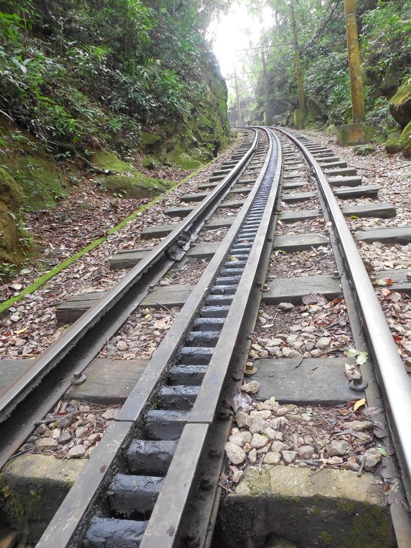 Tram tracks in Corcovado, Rio de Janeiro, Brazil