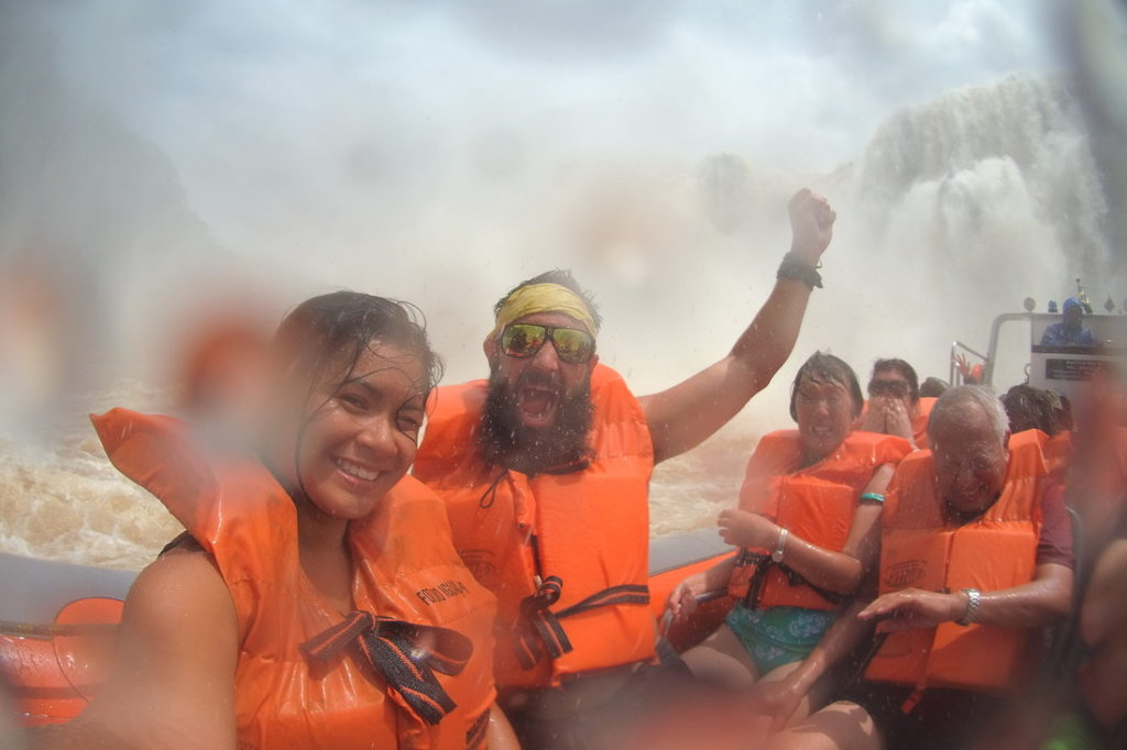 Shyrwyn and her friend from Alaska at the Iguazu Falls