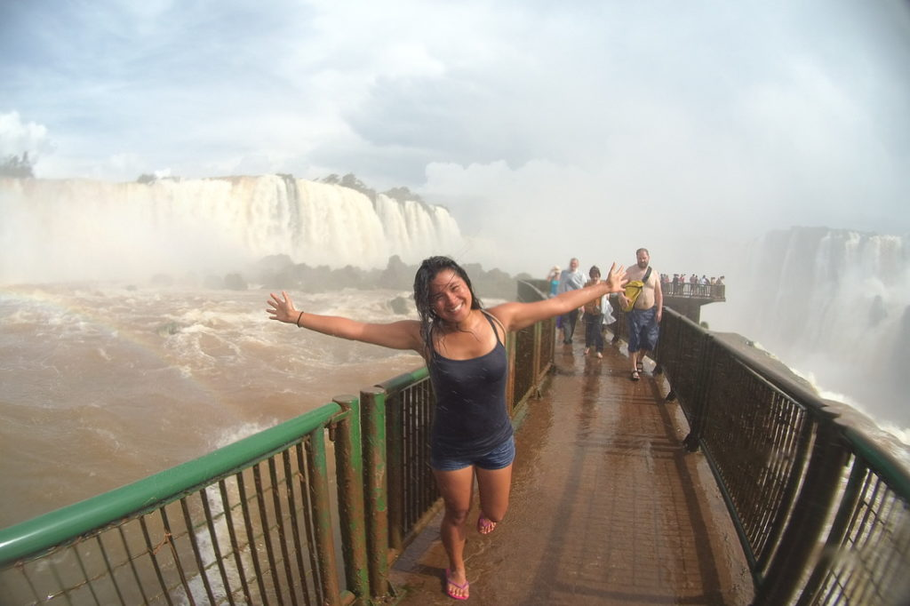 Shyrwyn at the Iguazu Falls
