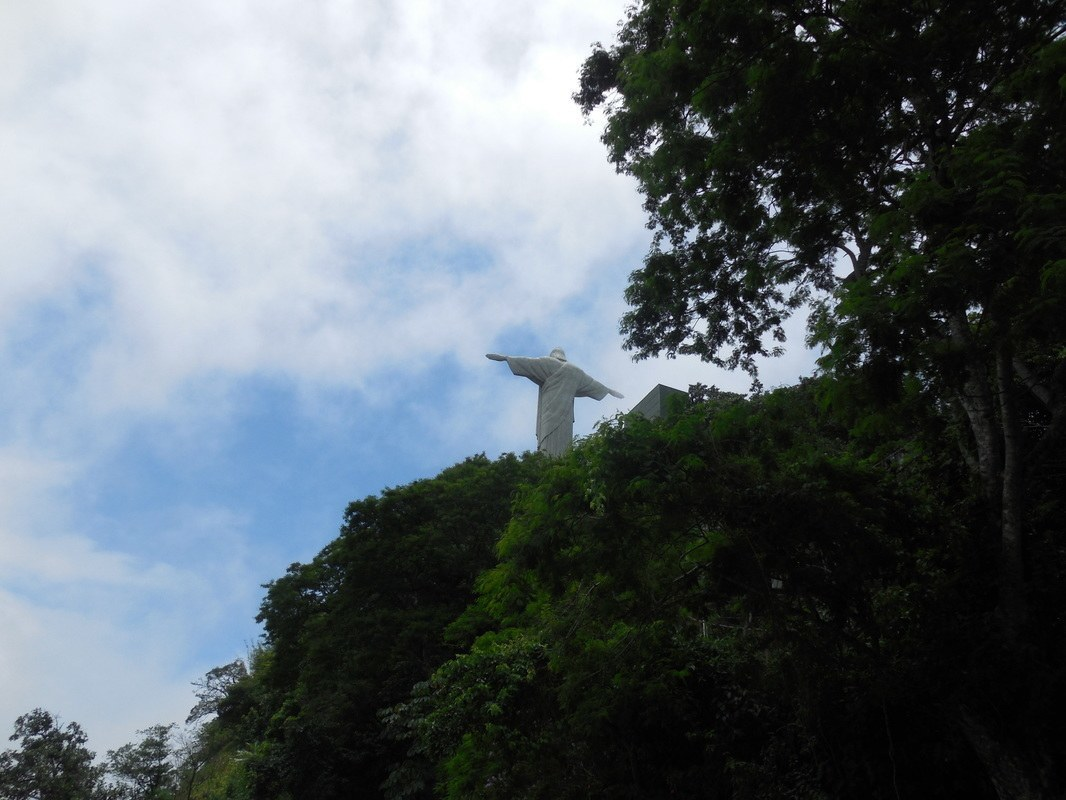 Shyrwyn's getting closer to the top of the Corcovado, Rio de Janeiro, Brazil
