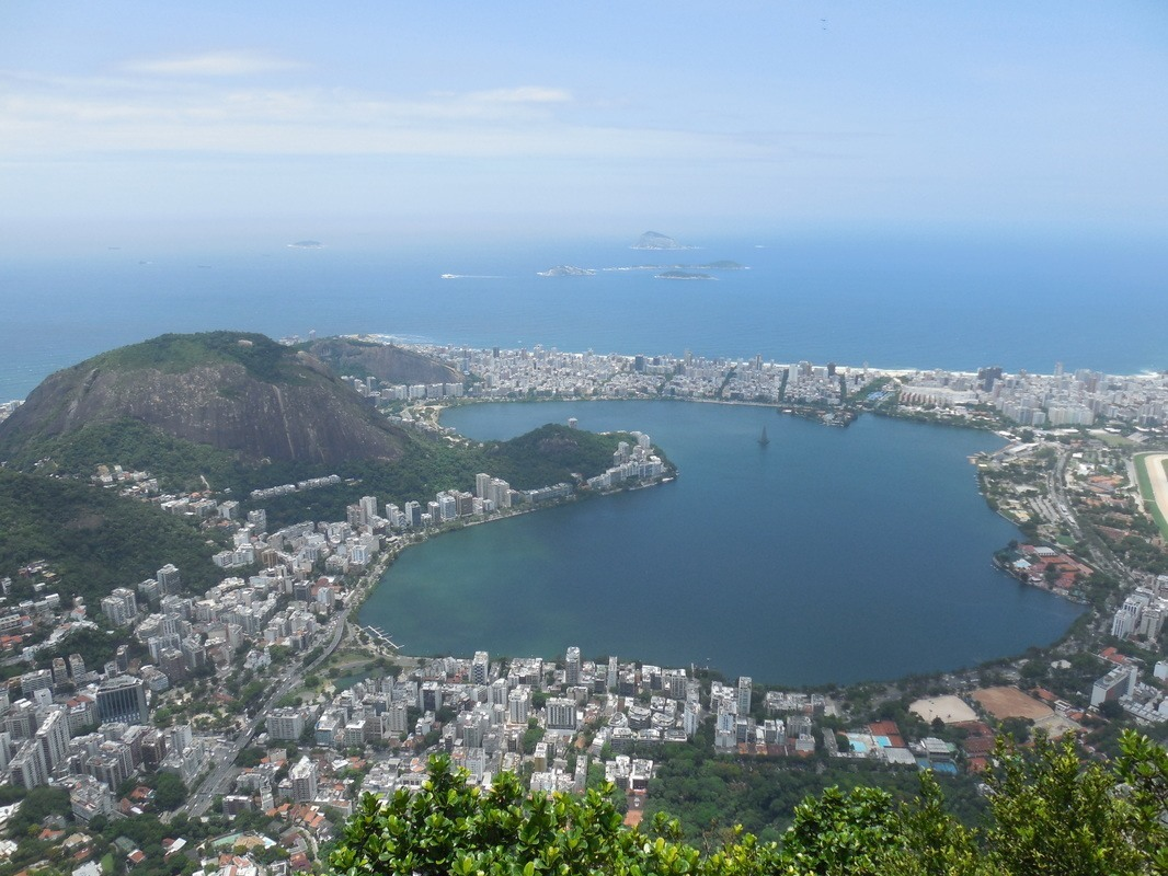 Shyrwyn's view from the top of the Corcovado: the Rodrigo de Freitas lagoon, Rio de Janeiro, Brazil